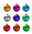 Set of christmas bauble vector image vector image
