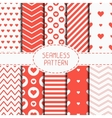 Set of romantic geometric seamless pattern with vector image