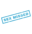 Sex Missed Rubber Stamp vector image vector image
