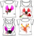 skull and wings fashion vector image vector image