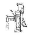 standpipe engraving vector image vector image