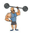 strong man mustache circus character image vector image vector image