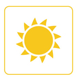 Sun icon Light yellow background isolated vector image vector image