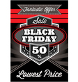 template retro poster for Black Friday vector image vector image