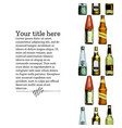 template with different beer bottles vector image