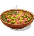 traditional dish bigos vector image vector image