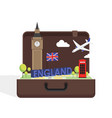 travel to london great britain concept with vector image vector image
