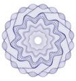 watermark guilloche rosetta design for backgr vector image vector image