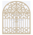 Wedding Invitation card in shape of a cage vector image