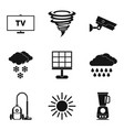 wind power icons set simple style vector image