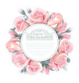 rose wreath template for wedding vector image