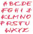 ornate doodle alphabet hand drawn letters vector image