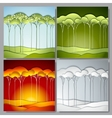 Set Abstract paper trees vector image