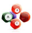 geometrical hexagon aqua elements vector image