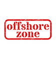 offshore red stamp grunge sign vector image