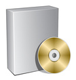 3d box with compact disc vector image vector image