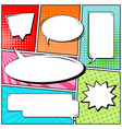 abstract creative concept comic pop art vector image vector image