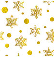 abstract golden christmas pattern vector image