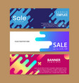 abstract motion banners colorful geometric shapes vector image
