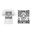 african safari t-shirt print leopard panther vector image