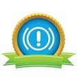 Alert round icon vector image vector image