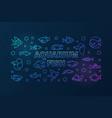 aquarium fish colored horizontal banner in vector image vector image