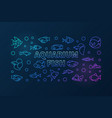 aquarium fish colored horizontal banner