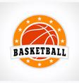 basketball emblem logo vector image