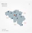 belgium infographic map vector image
