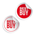 best buy label sticker vector image vector image