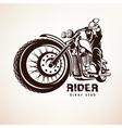 biker motorcycle grunge silhouette vector image vector image