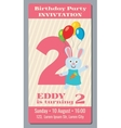 Birthday anniversary party invitation card with vector image vector image