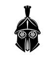 black gladiator helmet vector image vector image