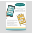 Brochure template chat bot connected flyer vector image vector image