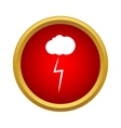 Cloud and storm icon simple style vector image vector image