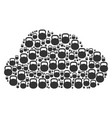 cloud composition of weight icons vector image vector image