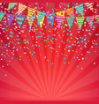 color birthday banner vector image vector image