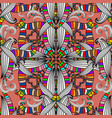 colorful ethnic style intricate seamless pattern vector image vector image