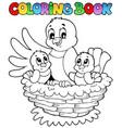 coloring book bird theme 1 vector image