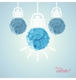 Concept with bulbs vector image vector image