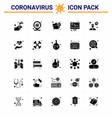 corona virus 2019 and 2020 epidemic 25 solid vector image vector image
