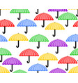 cute seamless background with umbrellas in red vector image