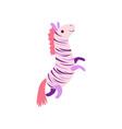 cute soft zebra plush toy stuffed cartoon animal vector image vector image