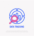 data tracking thin line icon vector image vector image