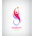 disabled people support sport help logo vector image vector image