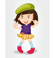 Fashionable girl vector image vector image