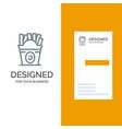 fries fast food food usa grey logo design and vector image vector image