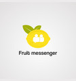 Fruit messenger logo icon element and template