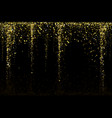 gold glitter confetti texture on a black vector image vector image