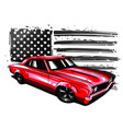 graphic design an american vector image vector image